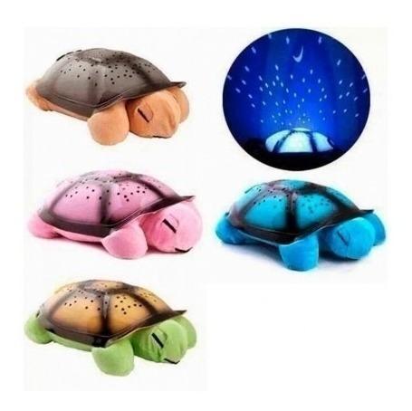 peluche tortuga proyector estrellas luz noche niños colores