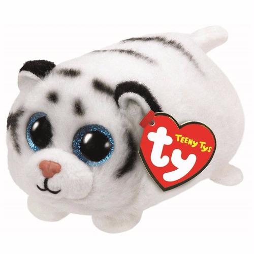 peluche ty boos tsum tigre blanco zack - jugueteria aplausos