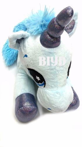 peluche unicornio 45 cm total real  calidad inigualable pony