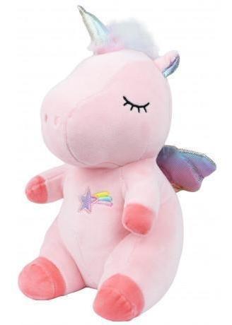 peluche unicornio sentado con alas multicolor 27x15cm