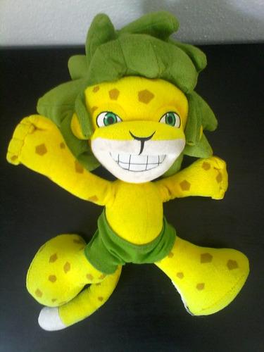 peluche zakumi 24 cm. brasil 2014