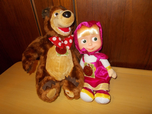 peluches  masha  y oso cantan hablan original rusia