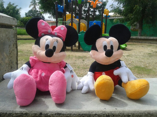 peluches minnie y mickey mouse 50 cms (ambos) oferta