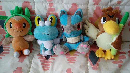 peluches pokemon variedades16-20cm: froakie,lucario,chespi