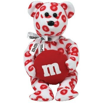 peluches y osos de peluche,idad beanie baby - red m & be..