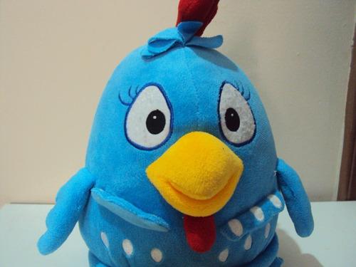 pelucia galinha pintadinha azul tamanho 38cm