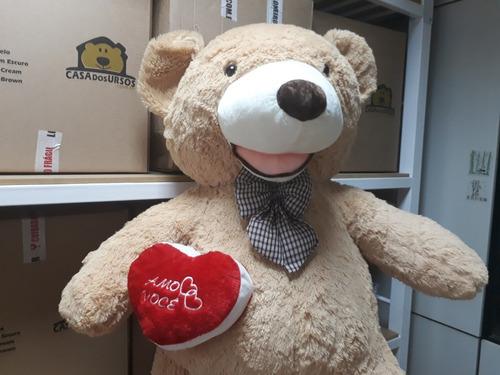 pelúcia gigante cheio 1,6 mt 160cm teddy bear casa dos ursos