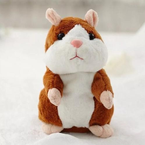 pelúcia hamster e  falante repete tudo que falar