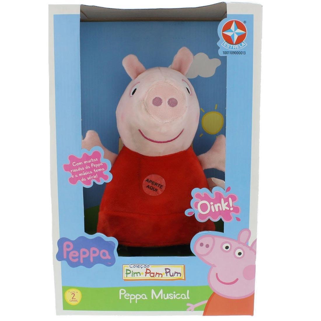 Foto 1 - Pelúcia Família Peppa Pig Com 4 Personagens Da Estrela