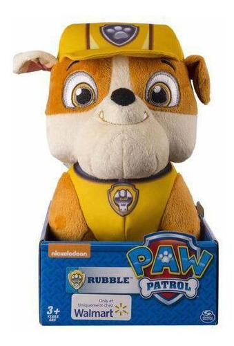 pelúcia rubble - patrulha canina 30cm grande - sunny