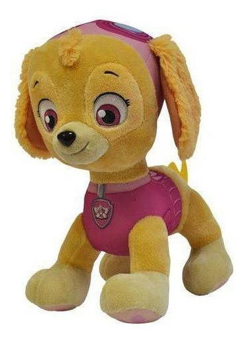 pelúcia skye patrulha canina 30cm grande sunny brinquedos