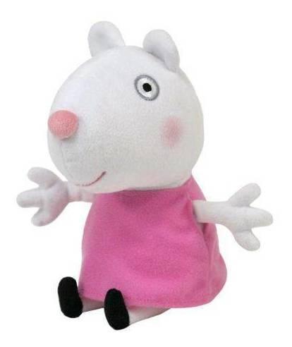 pelucia suzy sheep amiga da peppa pig 20 cm ty dtc