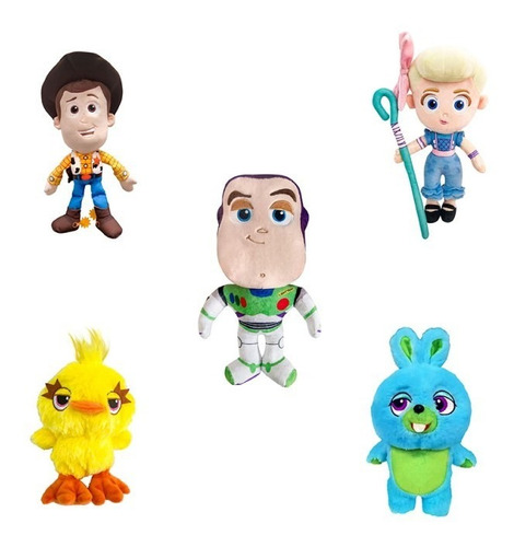pelucias toy story 4 disney dtc - kit c/ 5 personagens