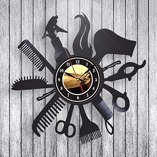 peluquería peluquería salón regalo reloj de pared hecho...