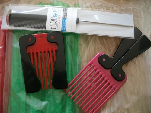 peluquería permanentes: bumerang, papel, peines, bols