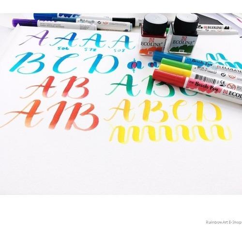 pen brush brushpen ecoline marcadores pincel 15 barrio norte