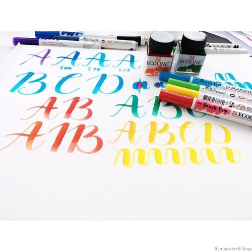 pen brush brushpen ecoline marcadores pincel amarillos