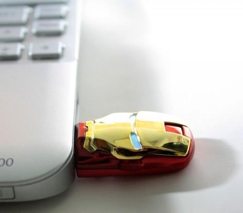 pen drive 16 gb personalizado boneco usb homem de ferro
