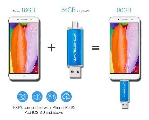 pen drive 32gb otg wansenda pc/smartphone/tablet