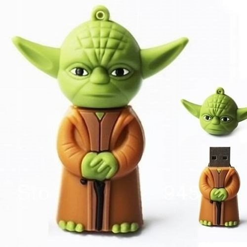 pen drive 8gb - star wars boneco mestre yoda emborrachado