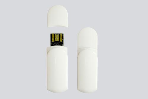 pen drive clip colgante blanco 8gb / venta al por mayor