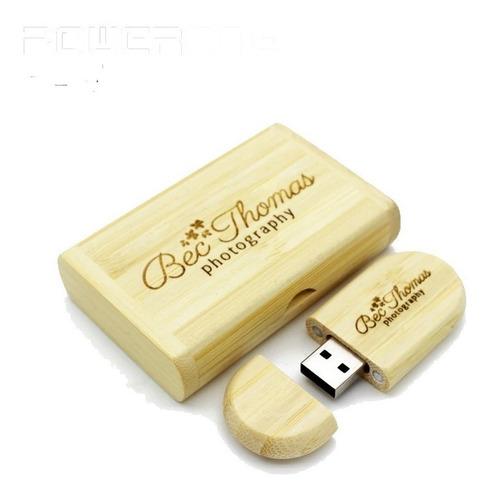 pen drive de madeira 8 gb personalizado gravamos logo grátis