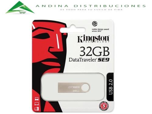 pen drive digital 32gb usb 2.0 memoria flash drive kingston