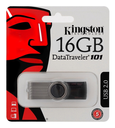 pen drive kingston 16gb - dt101 g2 usb 2.0