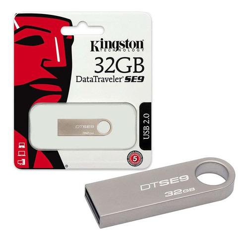 pen drive kingston 32gb usb 2.0 metálico datatraveler