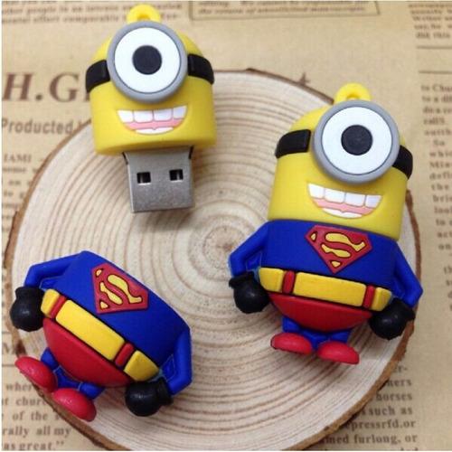 pen drive minions superman 8gb super homem  envio imediato