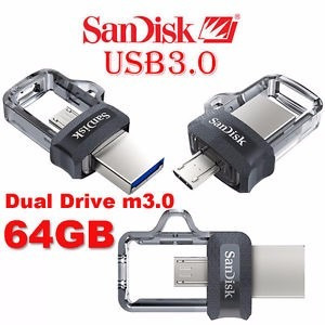 pen drive sandisk 64gb ultra dual drive usb 3.0 micro-usb