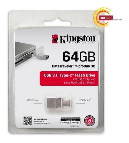 pen drive usb 64gb kingston dt microduo 3c