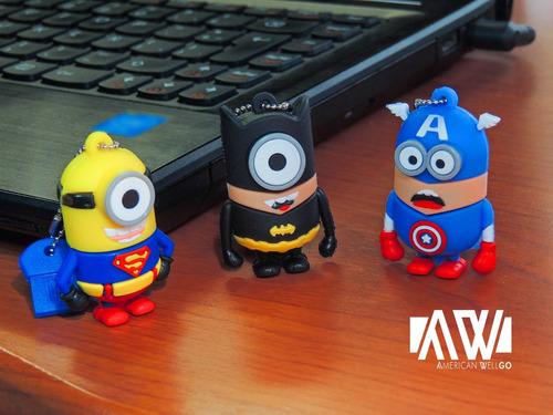 pen drive usb super heroes minions 16 gb 3.00