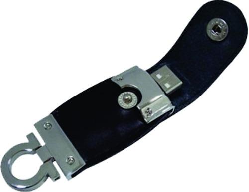 pen driver 4gb chaveiro de couro, cor preta, pratico e lindo