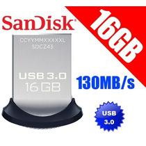 Pendrive 16gb Usb 3.0 Sandisk Ultra Fit Memoria Somos Tienda