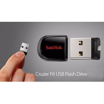 Pendrive Memoria Mini Sandisk Cruzer Fit 16 Gb Flash Drive
