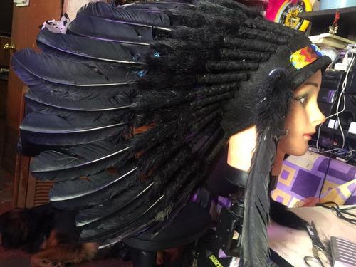 penachos indios americano plumas de guajolote cdmx $500.00