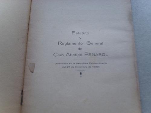 peñarol estatuto y reglamento general 1939