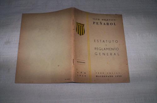 peñarol.estatuto y reglamento general 1959..buen estado.