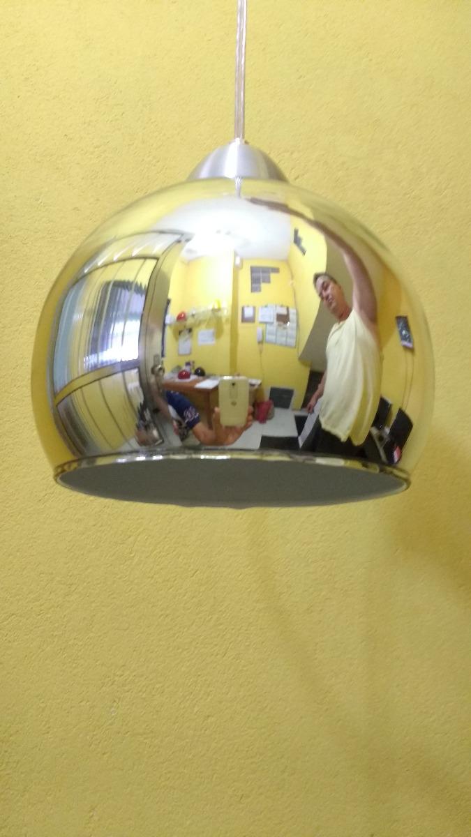 Pendente Bola Espelhado 30 Cmt R 330 00 Em Mercado Livre