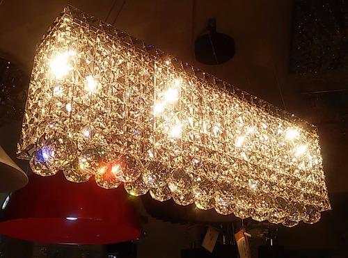 pendente c/cristal ref:930-50q p/sala de jantar e estar