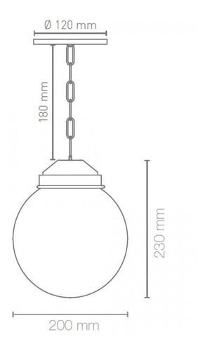 pendente colonial com globo boca 10 blumenau preto b