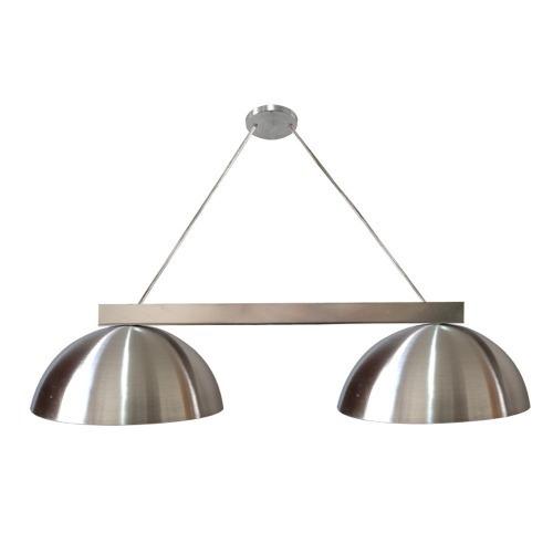 pendente duplo led ônix alumínio escovado lustre luminária