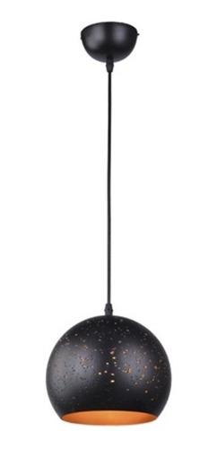 pendente em aço para 1 lâmpada 40w bivolt 20x20cm preto