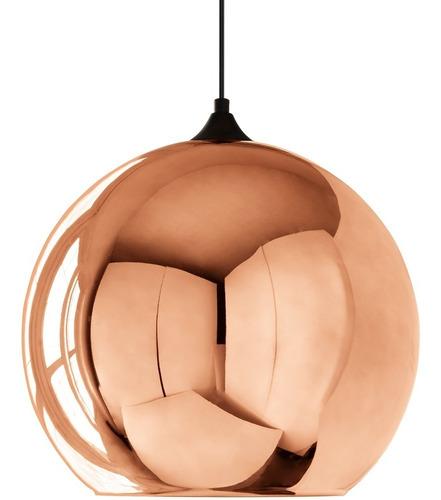 pendente em vidro globo bronze