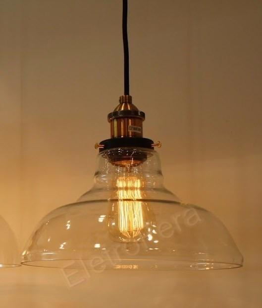 ef3a92a28 Pendente Industrial Vidro Loft Vintage Retro Design Promocao - R ...