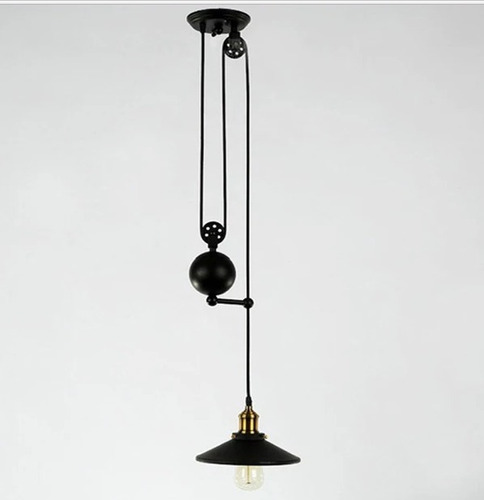 pendente metal com peso + rondana 01 lâmp.e-27