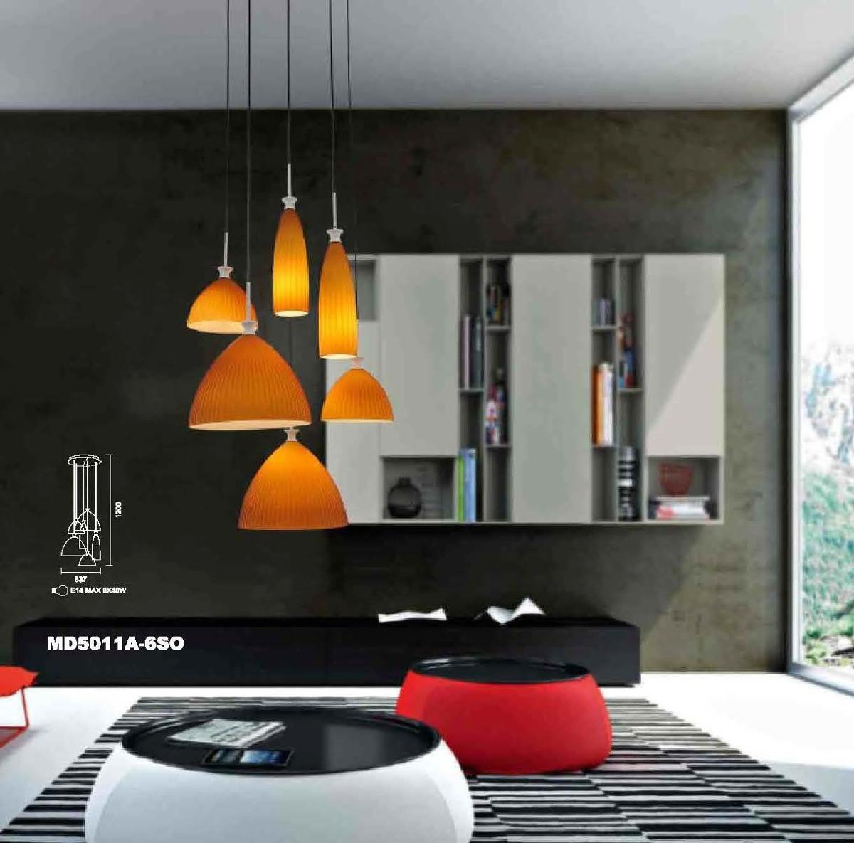 Pendente Moderno Vidro Mbar Para Mesa Sala Jantar Cozinha R 999