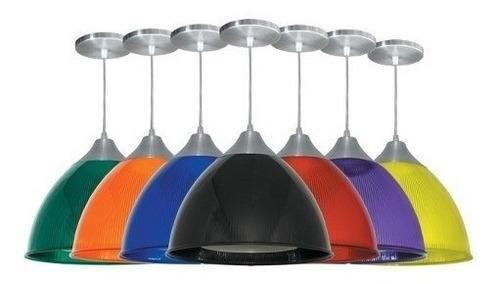 pendente prismático colorido gota luminária lustre