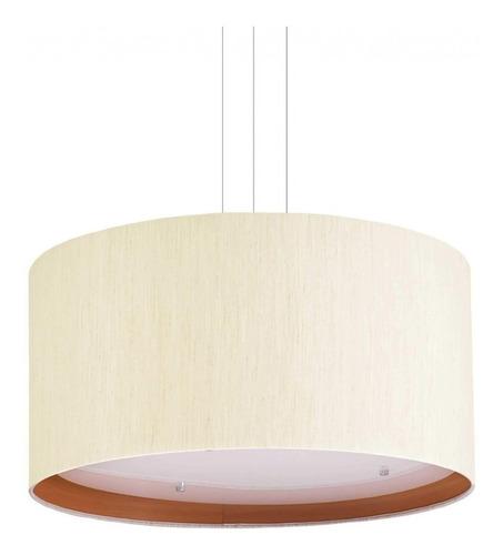 pendente redondo em plástico para 4 lâmpadas eg